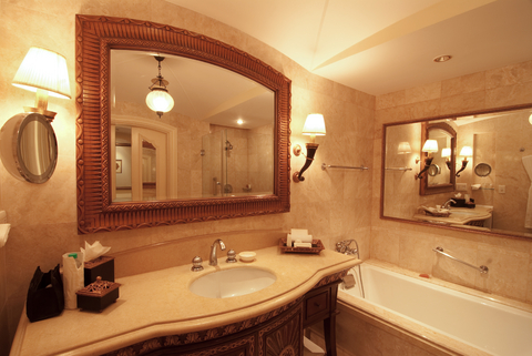 Images Of Bathroom Wall Sconces bathroom wall sconces: flattering and practical features | home
